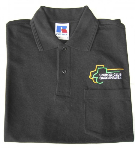 Unimog Club Polo Shirt Schwarz Kurz 1 4 Arm